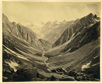 Valley from Humta pass, c 1864.