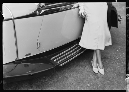 Running board of Mercedes-Benz Nurnberg convertible, 1930s.