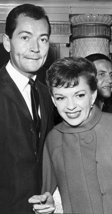 Judy Garland, American singer and actor, with Mark Herron, August 1964.