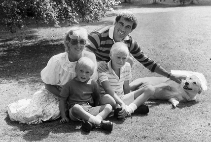 Peter Shilton and family, August 1983.