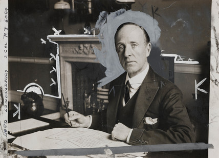 Lord Londonderry at his desk, 5 September 1931.
