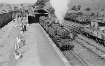 Steam locomotive in County Durham, 1957.