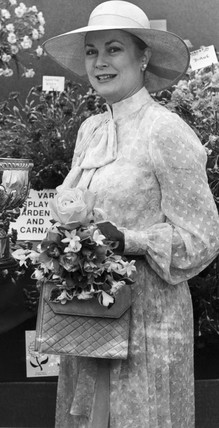 Princess Grace of Monaco at a flower show, July 1981.