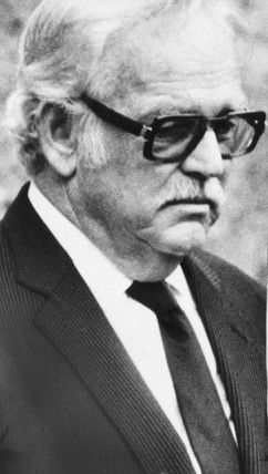 Prince Rainier at his wife's funeral, 1982.