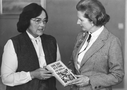 Margaret Thatcher with Pat Seed MBE, c 1979.