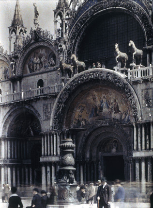 St Mark's Cathedral, Venice, 1925.