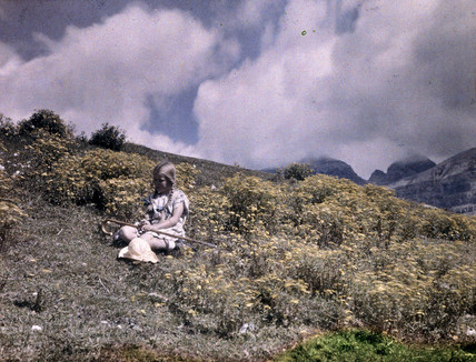 Eva at Mount Spinale, c 1920-1930.