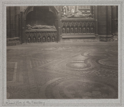 Mosaic Floor of the Sanctuary, Westminster Abbey, 1911.