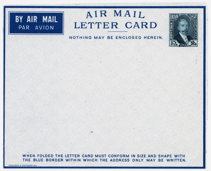 Air mail letter card.
