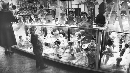 Dolls for sale, Christmas 1959.