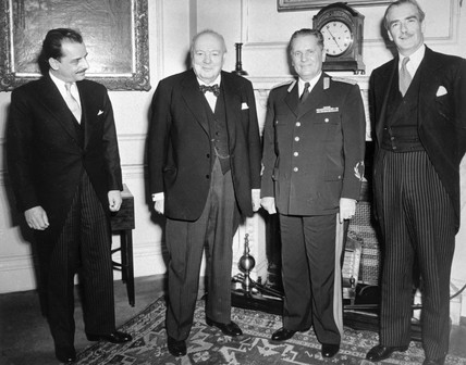 Winston Churchill with Popovic, Tito and Anthony Eden at No 10, 16 March 1953.