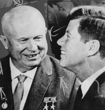 Khrushchev and Kennedy, April 1961.