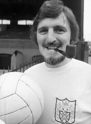 Jimmy Hill, British footballer, c 1973.