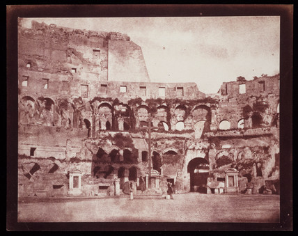 Interior of the Colosseum, Rome, c.1846.