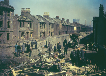 Bomb damage during the blitz, 1943.