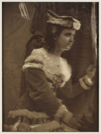 Portrait of a woman dressed in fur, c. 1856.