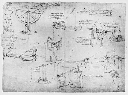 Sketch taken from a notebook by Leonardo Da Vinci.