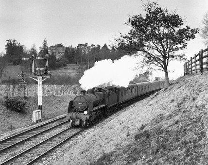 Steam locomotive, 7 April 1962.
