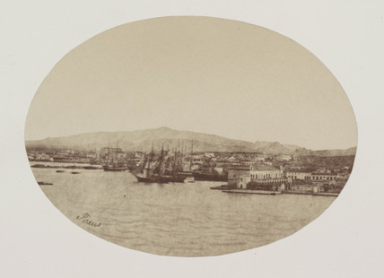 The port of Athens, c 1849.