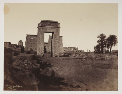 'Avenue of Sphinxes and principal Gateway,' Egypt, c 1849.