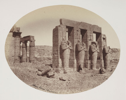 'Ossyride Columns', Thebes, c 1849.