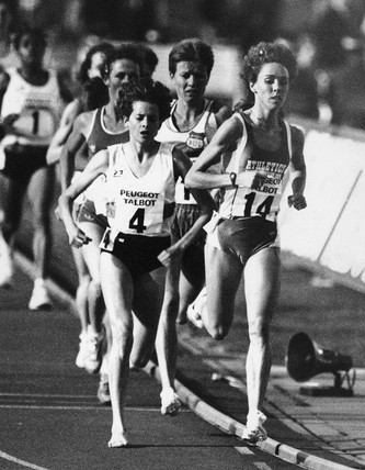 Zola Budd and Mary Decker, July 1983.