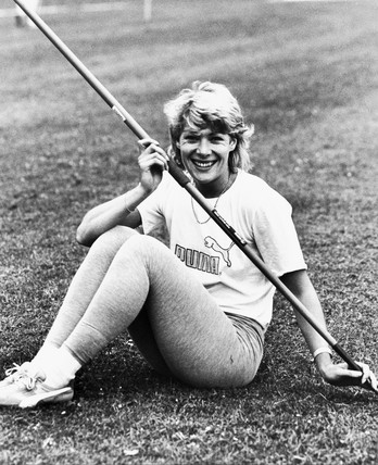 Shirley Strong, British athlete, c 1980s.