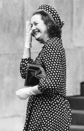 Raine Spencer, Princess Diana's stepmother, July 1981.