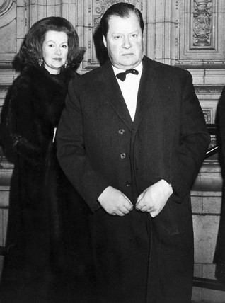 Lord and Lady Spencer, Royal Albert Hall, March 1977.