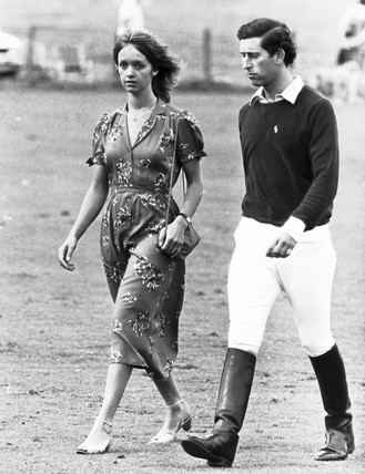Sabrina Guinness and Prince Charles, Cowdray Park, 5 August 1979.