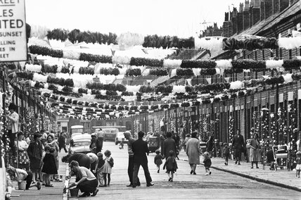 Street decorations during the World Cup, Claudia Street, Liverpool, 1966.