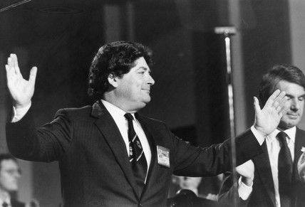 Nigel Lawson at the Tory party conference, October 1985.