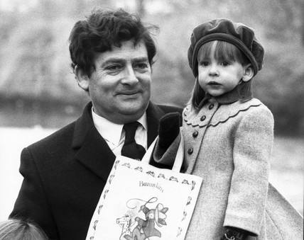 Nigel Lawson and his daughter, March 1984.