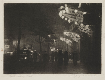 'By the Waldorf - Night', 1923.