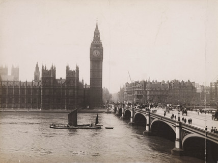 'Houses of Parliament...', late 19th-early 20th century.