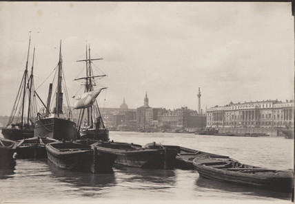 The Thames and St Paul's Cathedral, late 19th century.