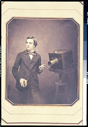Self-portrait with camera, June 1857.