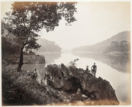 'A view on the Salween River near the Rope Station, Moulmein, Burma', c 1873.