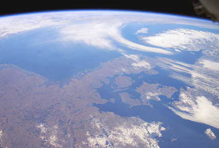 Denmark from space, February 26, 2003.