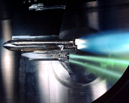 Shuttle engine out test, USA, May 1988.