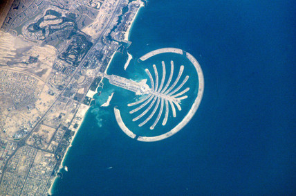 Palm Island Resort, Dubai, from the International Space Station, c 2005.