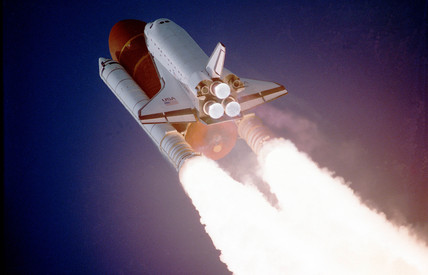 Space Shuttle Atlantis lifting off, 2 December 1988.