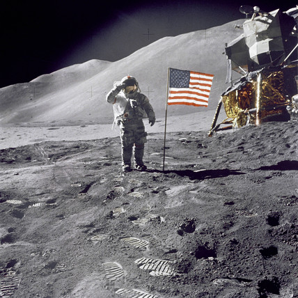 American flag on the Moon, 1971.
