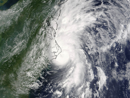 Hurricane Alex from space, August 2004.