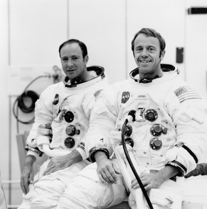 Astronauts Ed Mitchell and Al Shepard, 17 September 1970.