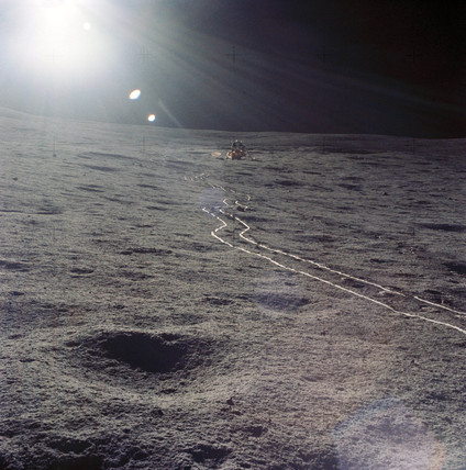 Sunrise on the Moon, February 1971.