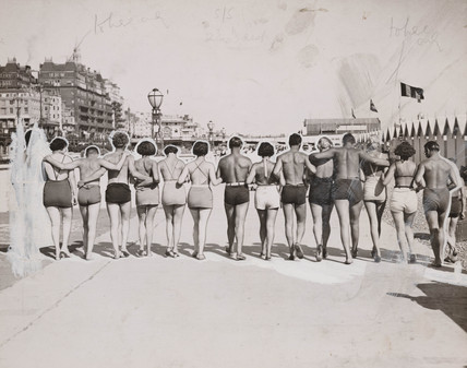 Sunbathing at Brighton, 3 August 1935.