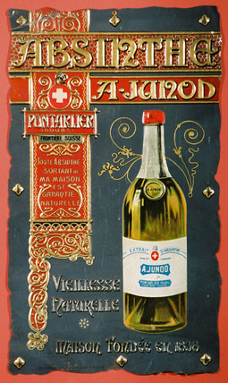 Advertisement for Absinthe Junod, c 1900.