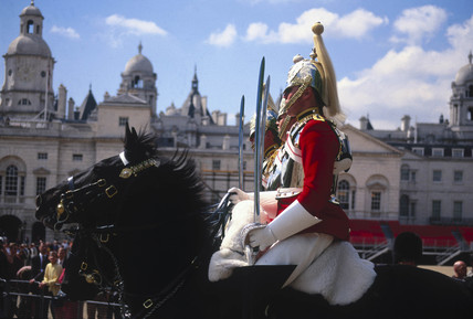 Horse guards, London, 1990s.