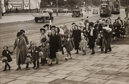 Mothers and children being evacuated from Streatham, 2 September 1939.